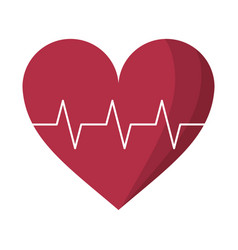 heart pulse rhythm cardio vector image