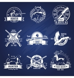 Hunting design elements set vector