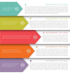 Modern Minimalistic Multicolor Infographics vector image vector image