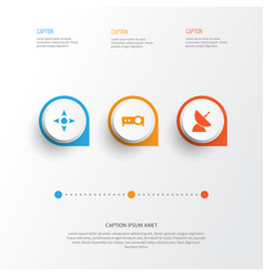 Multimedia icons set collection of arrow vector