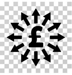 pound money distribution icon vector image vector image