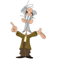 professor cartoon vector image
