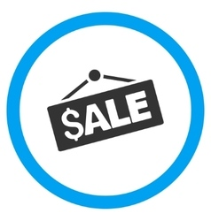 Sale Signboard Flat Rounded Icon vector image