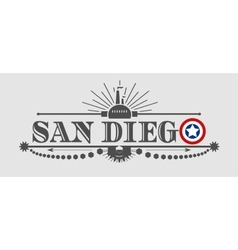 San diego city name with flag colors vector