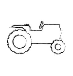 tractor farm vehicle vector image vector image