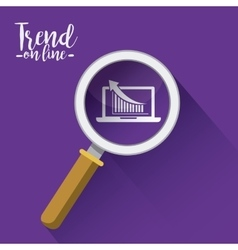 trend symbol design vector image