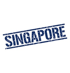 Singapore blue square stamp vector