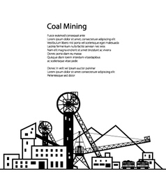 Coal industry poster vector