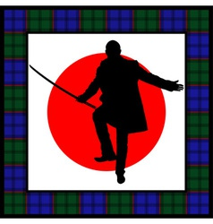 silhouette of man with sword vector image