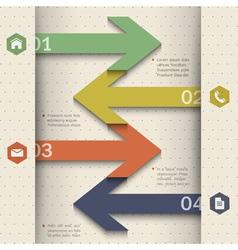 Modern banner arrow design for website templates vector image