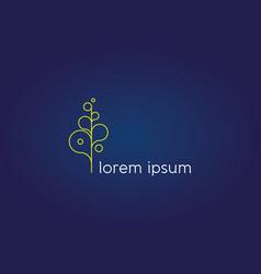 Thin letter abstract flourish icon vector