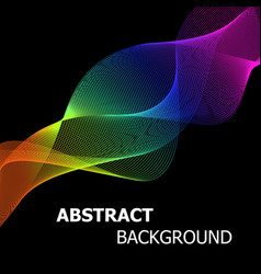 Colourful abstract lines wave background vector