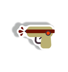 Stylish icon in paper sticker style water gun vector