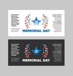 Memorial day sale banner vector