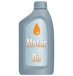 Motor oil bottle vector