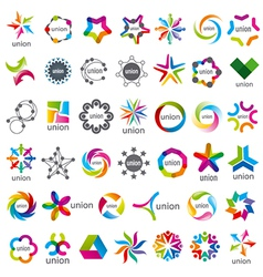 biggest collection of logos Union vector image