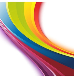 Bright smooth rainbow colorful waves template vector image