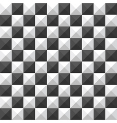 Chessboard pyramid seamless pattern vector