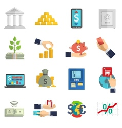 Banking system icons set vector