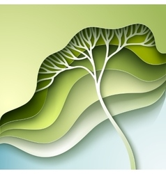 With stylized tree vector