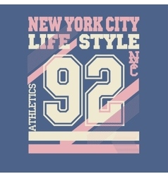 New york city t-shirt vector