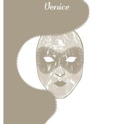 Venetian carnival mask vector
