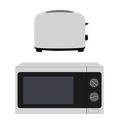Microeave and toaster vector