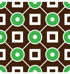 Geometric seamless pattern with rings and squares vector