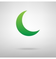 Moon icon with shadow vector
