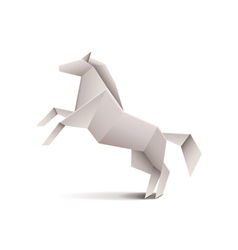 Origami horse isolated on white vector