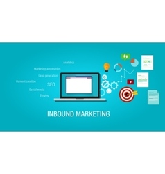 Inbound content blog marketing seo vector