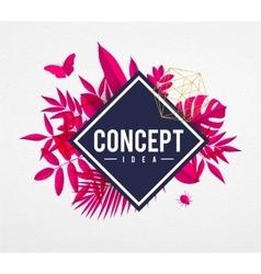 Frame floral concept pink vector