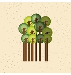 Forest trees design vector