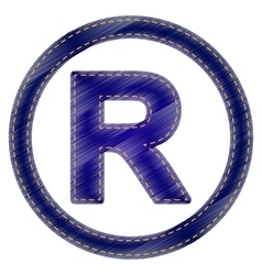 Registered trademark sign vector