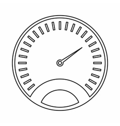 Speedometer icon outline style vector