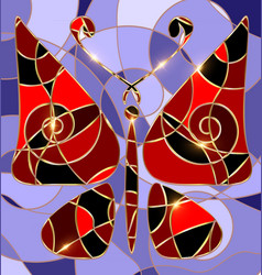 Abstract background red butterfly vector