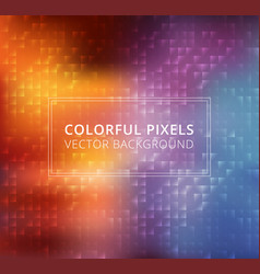 abstract colorful square pixels background vector image