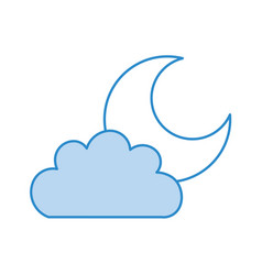 beautiful fantasy cloud with moon vector image