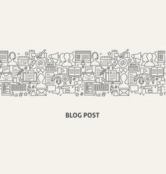 Blog banner concept vector