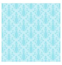 Blue damask vector image vector image