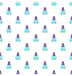 Blue flippers pattern cartoon style vector image vector image