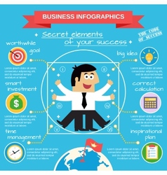 Business infographics set vector image