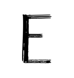 capital letter e painted by brush vector image vector image