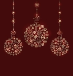 Christmas balls made of snowflakes for winter vector
