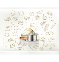 Cooking infographics vector image
