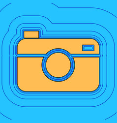 digital photo camera sign sand color icon vector image vector image