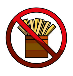 Fast food prohibited vector
