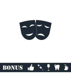 Festive masks icon flat vector image vector image