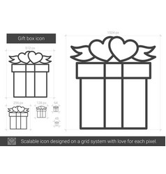 gift box line icon vector image vector image