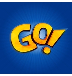 Go phrase written like as pokemon logo vector